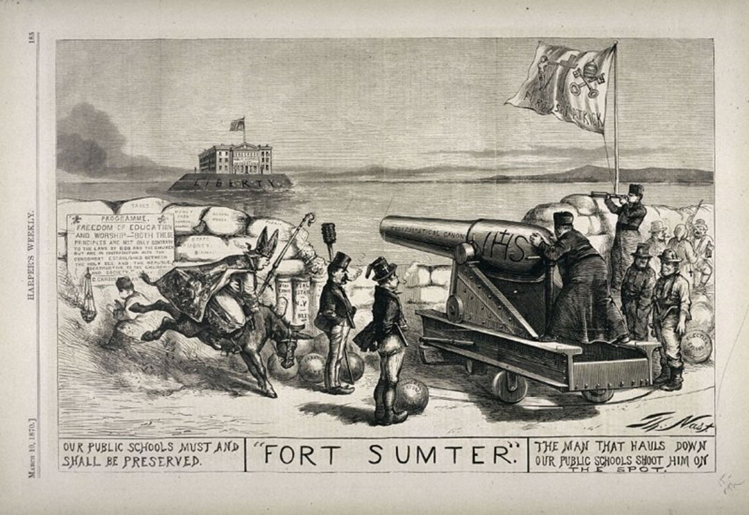 Fort Sumter, from Harper's Weekly, (March 19, 1870), p. 185 | Thomas Nast
