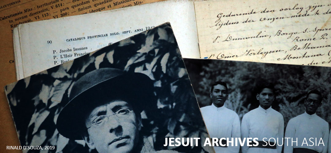 Jesuit Archives South Asia | India, Sri Lanka, Nepal, Bhutan, Bangladesh, Pakistan