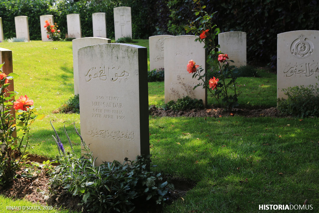 The Grootebeek British Cemetery in West Flanders houses seven graves of Indian soldiers.