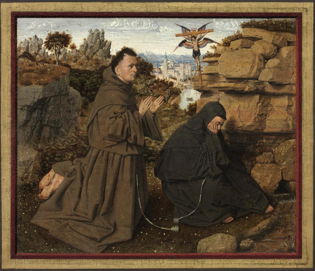 "Jan van Eyck, ""Saint Francis of Assisi Receiving the Stigmata,"" c. 1430-1432 | Philadelphia Museum of Art, Philadelphia"