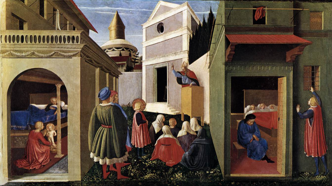 "Fra Angelico, ""Scenes from the Life of Saint Nicholas of Bari,"" c. 1437 