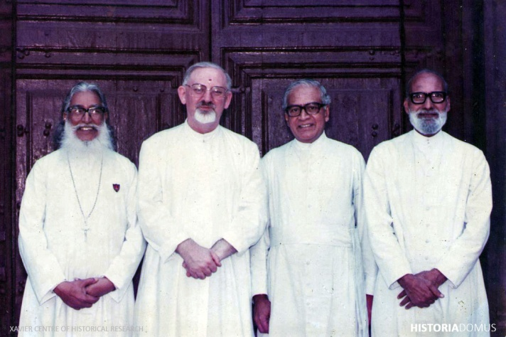 Fr. George D'Sa SJ, the Jesuit Superior General Peter-Hans Kolvenbach SJ, Fr. Vasco do Rego SJ